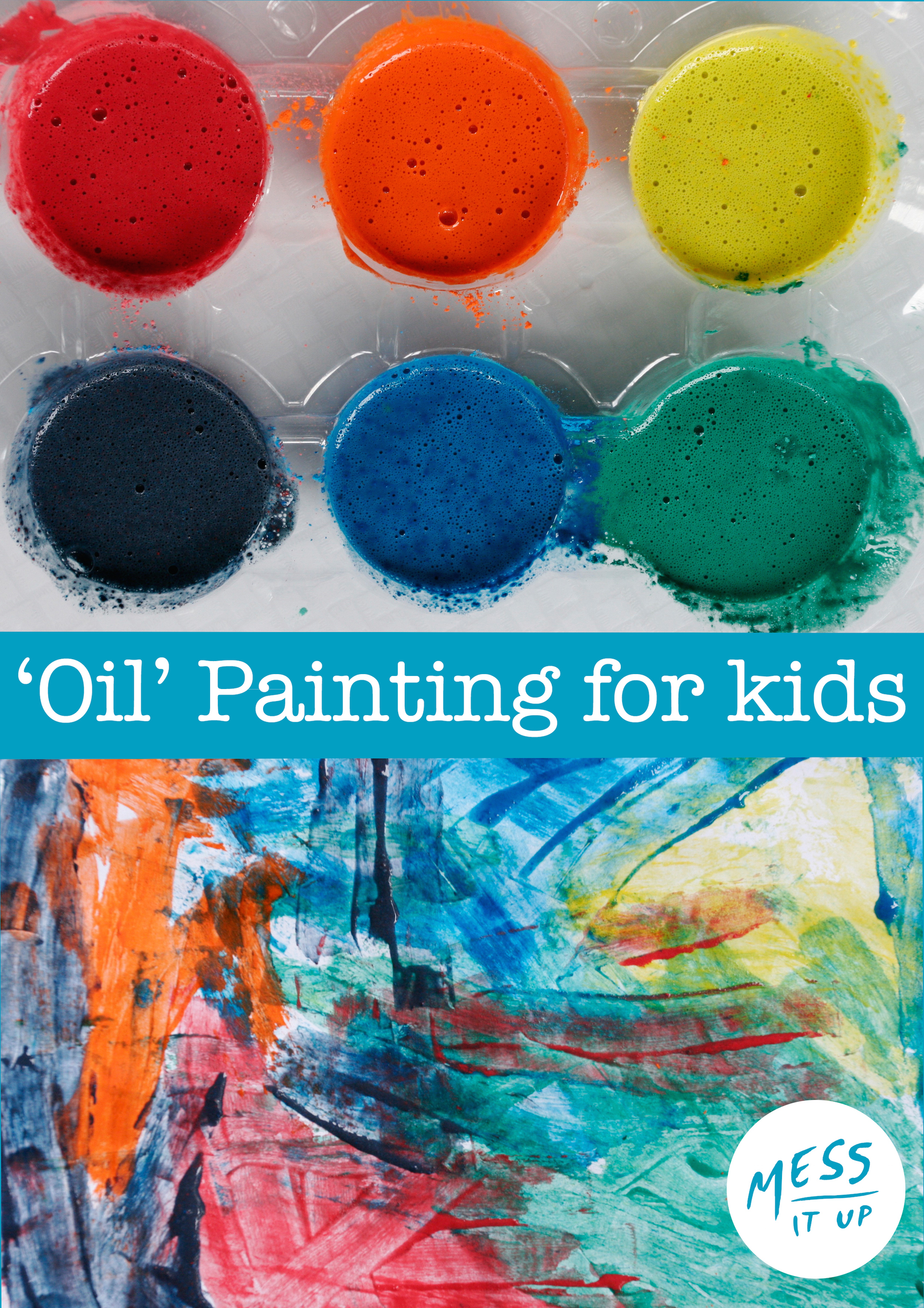 Oil like painting for toddlers