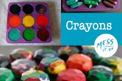 Make your own crayon shapes
