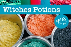 Colourful frothing cloud dough, grab your cauldron and mix your own witches brew